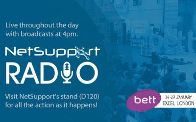 Listen live to Bett 2018 on NetSupport Radio