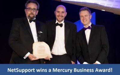 NetSupport wins a Mercury Business Award