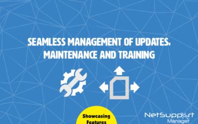 Seamless management of updates, maintenance and training