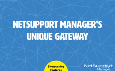 Deliver seamless Remote Control between PCs with NetSupport Manager's Gateway Module!