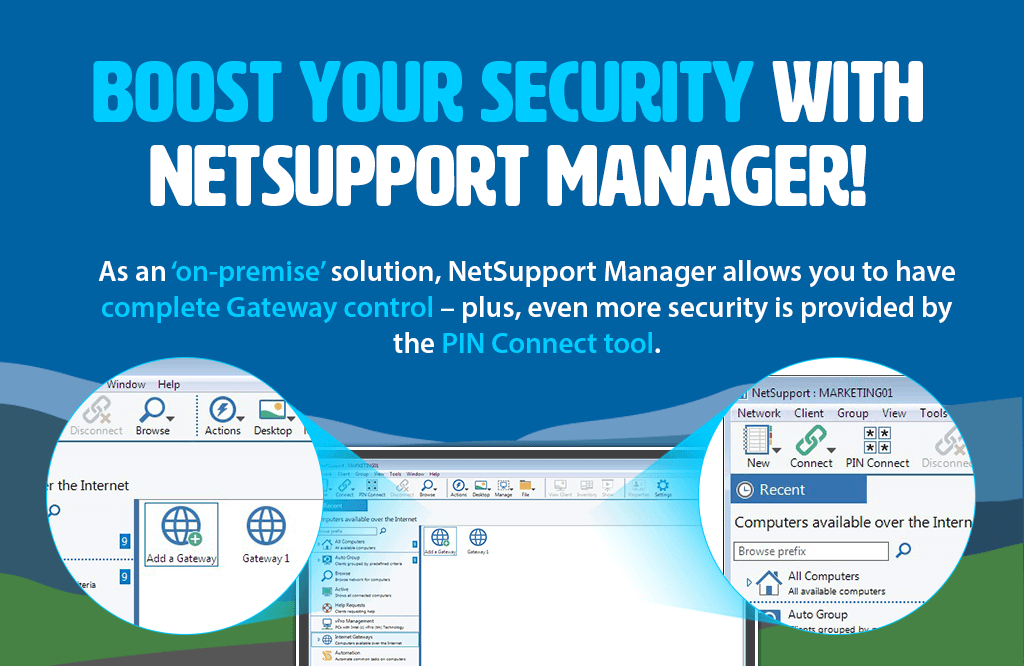 Boost your security with NetSupport Manager!
