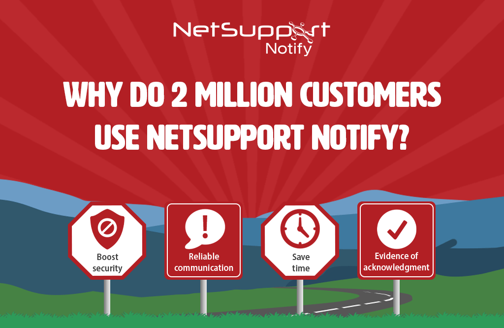 Why do 2 million customers use NetSupport Notify?