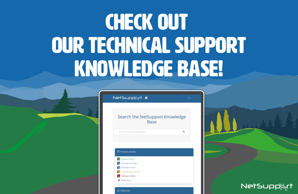 The NetSupport Knowledge Base is here to help
