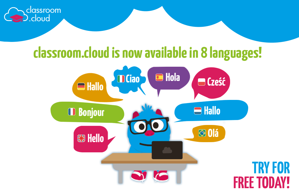 classroom.cloud is now available in a range of languages!