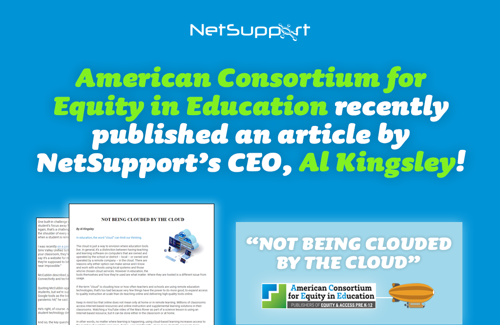 American Consortium for Equity in Education published an article by our CEO